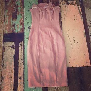 Cinq a Sept pink velvet strapless dress sz 0 bnwt